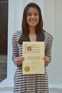Anise Phi Beta Kappa Induction